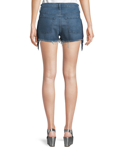 W2 Mason Denim Shorts with Fringe