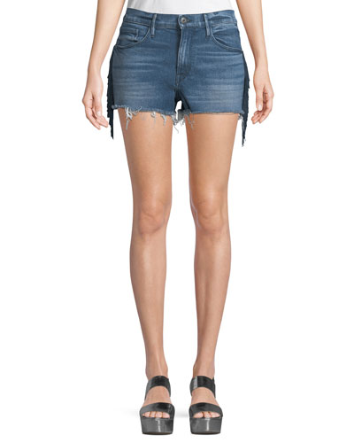 W2 Mason Denim Shorts with Fringe