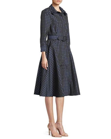 Polka Dot Fit & Flare Shirt Dress