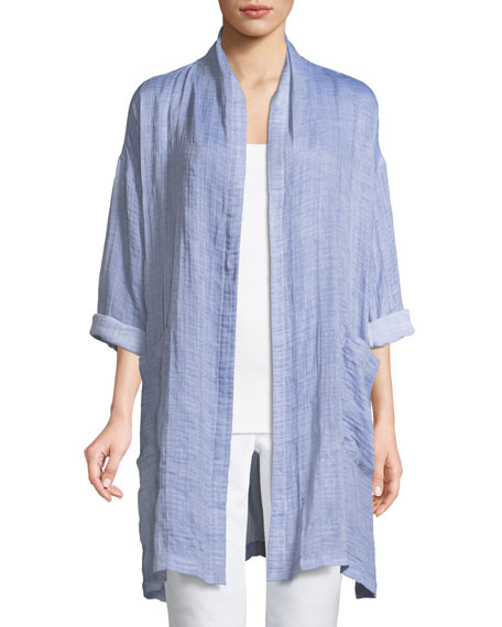 Eileen Fisher Polka Dot Cotton-Blend Scarf and Matching