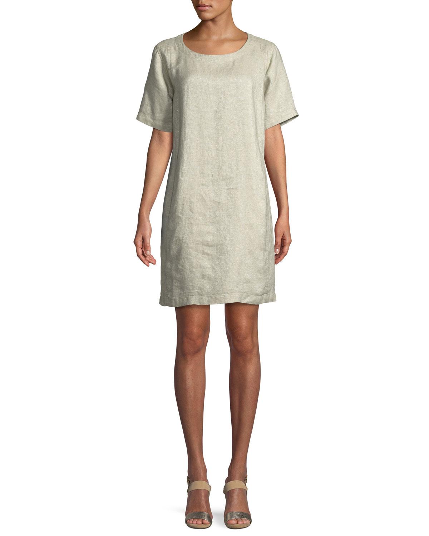 81b5416ea3 Eileen Fisher Twinkle Organic Linen Shift Dress