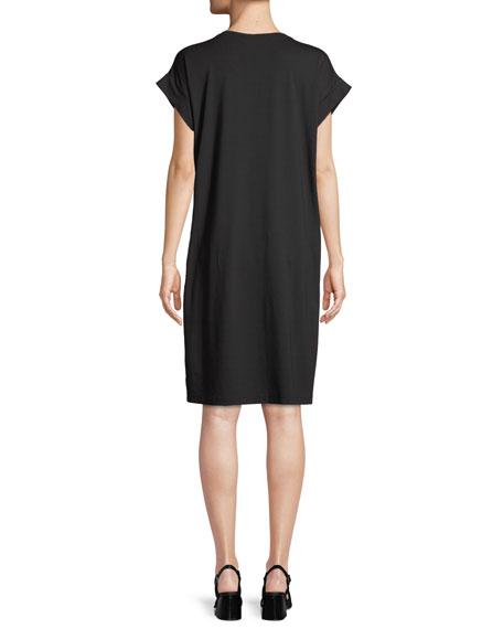 Hanna Twist-Front Jersey Tunic Dress