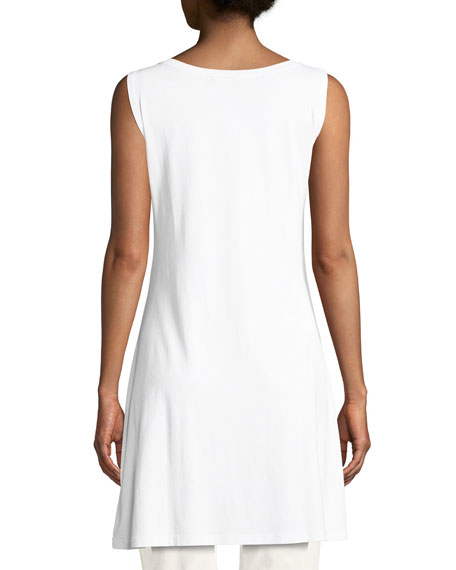 Sleeveless Jersey Tunic Tee