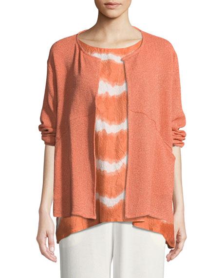 MASAI Jette Short Boucle Jacket in Orange