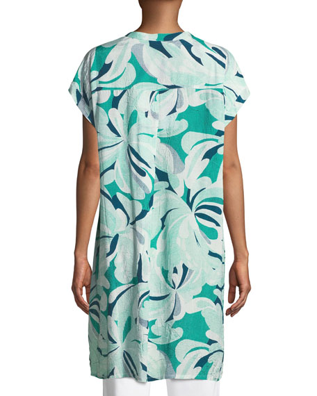 Ihsan Grid Flowers-Print Easy Tunic