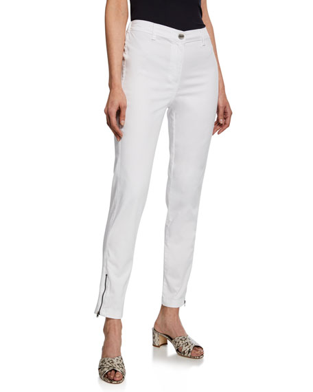Paulina Zip-Pocket Chino Trouser