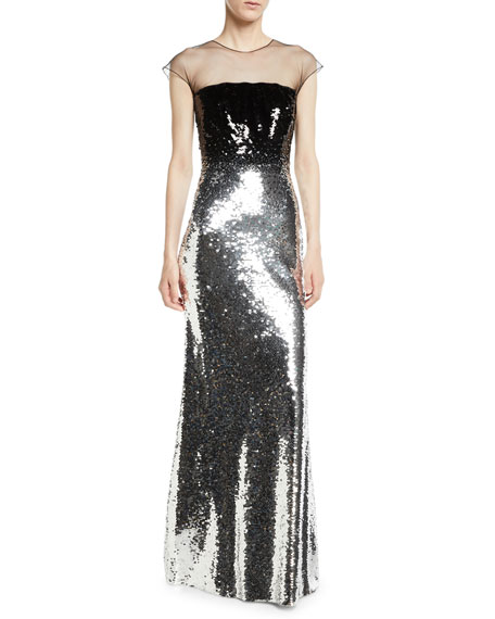Sachin & Babi Noir Dija Two-Tone Sequin Illusion