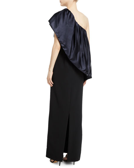 Bebek Asymmetric Ruffle Gown