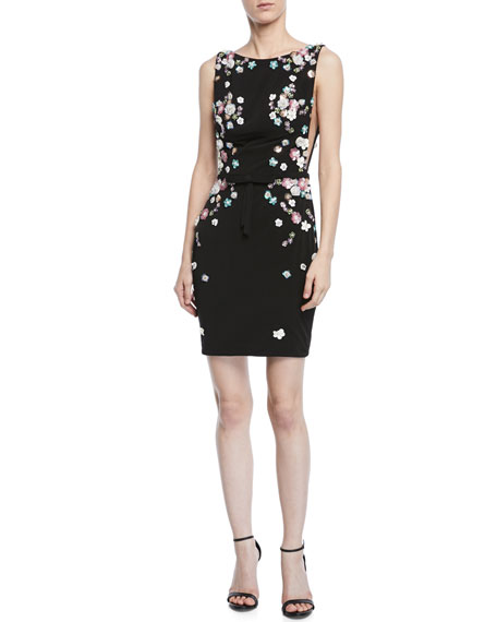 Jovani Embellished V-Back Sleeveless Cocktail Dress