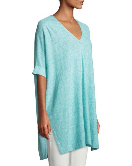 Organic Linen Melange V-Neck Easy Tunic