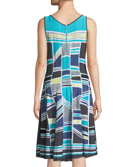 Going Places Sleeveless Twirl Dress, Plus Size