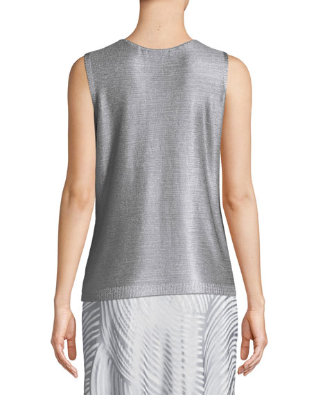 Beach Stone Metallic Tank, Plus Size