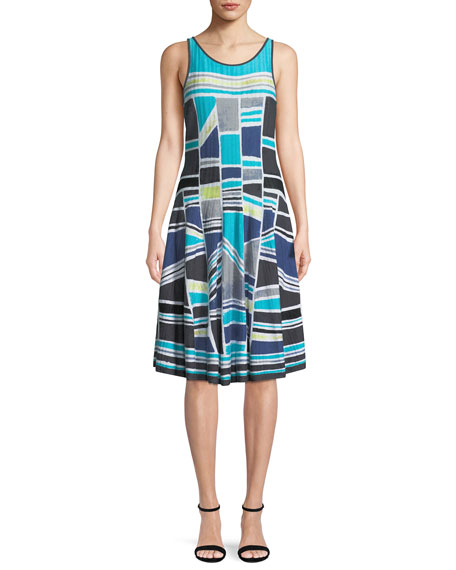 Going Places Sleeveless Twirl Dress