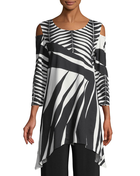 Caroline Rose Gone Wild Graphic Tunic, Petite