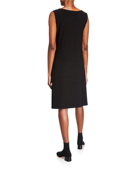Scoop-Neck Stretch Knit Dress