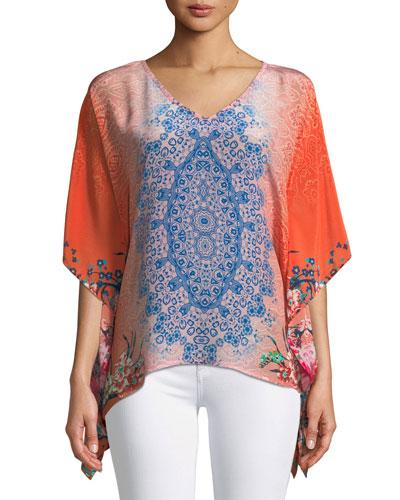 Briyana Handkerchief-Hem Tunic, Plus Size