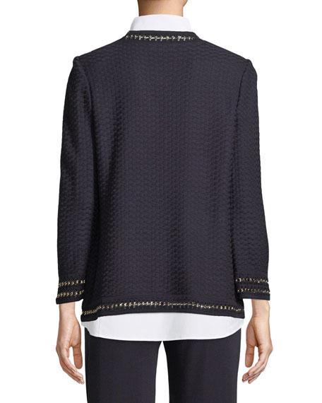 Chain-Detail Knit Jacket, Petite