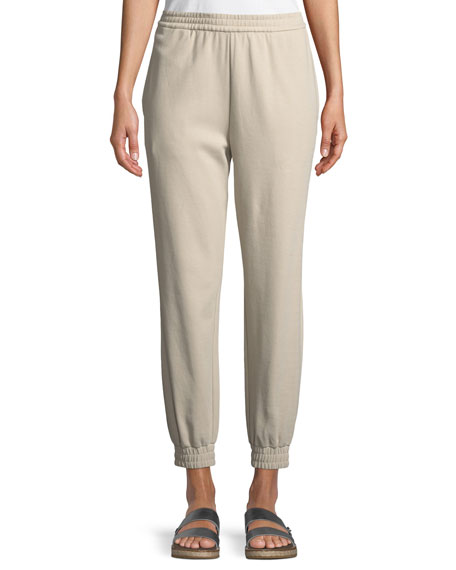 Stretch Interlock Jogger Pants, Petite