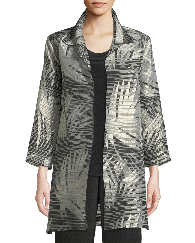 76fa8e2ab59 Caroline Rose Shimmering Palms Shirt Jacket