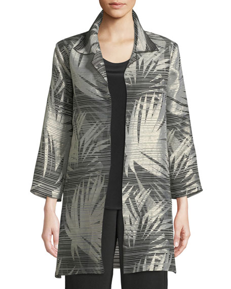 Shimmering Palms Shirt Jacket, Plus Size