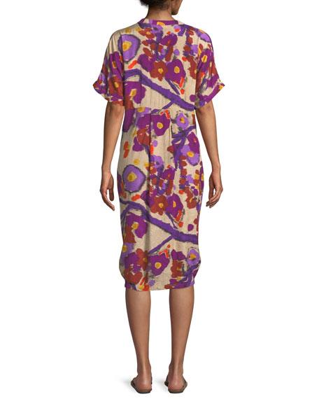 Nahla Crinkled Floral Printed Dress