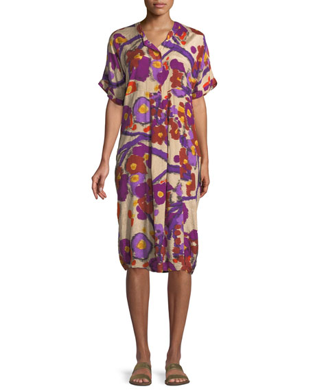 Masai Nahla Crinkled Floral Printed Dress