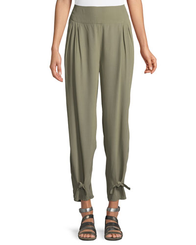 Paisley Basic Ankle-Tie Trousers