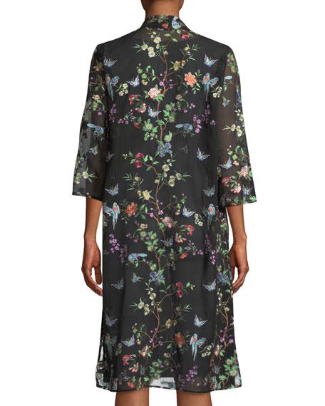 Fluttering Floral Duster Kimono