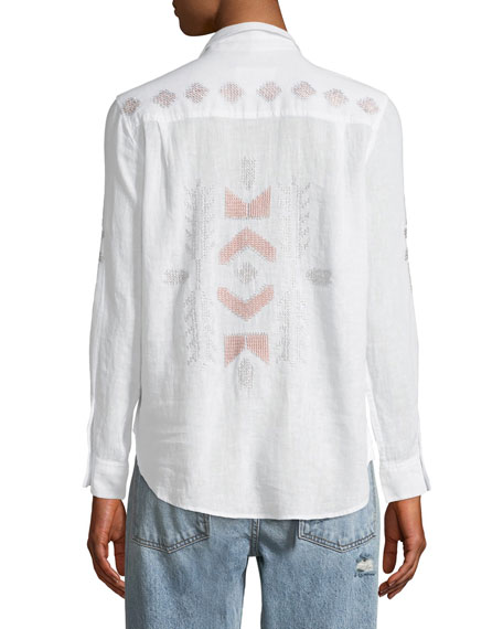 Charli Embroidered Long-Sleeve Shirt