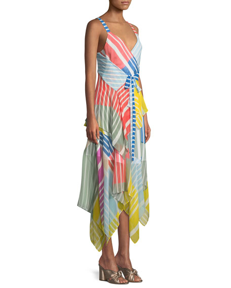 Goldie Striped Colorblock Sleeveless Dress