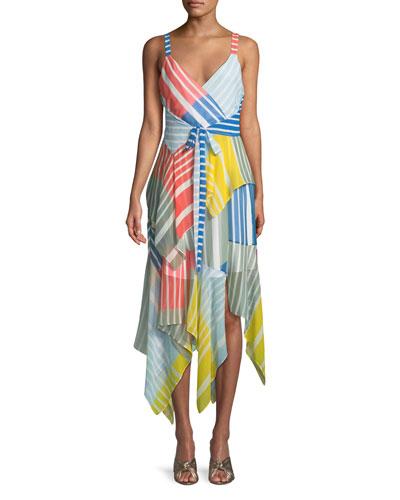 Goldie Striped Colorblock Sleeveless Dress