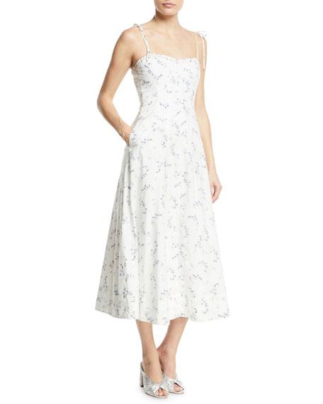 Francine Floral-Print Poplin Tank Dress
