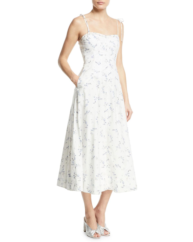 836fff0f52 Rebecca Taylor Francine Floral-Print Poplin Tank Dress