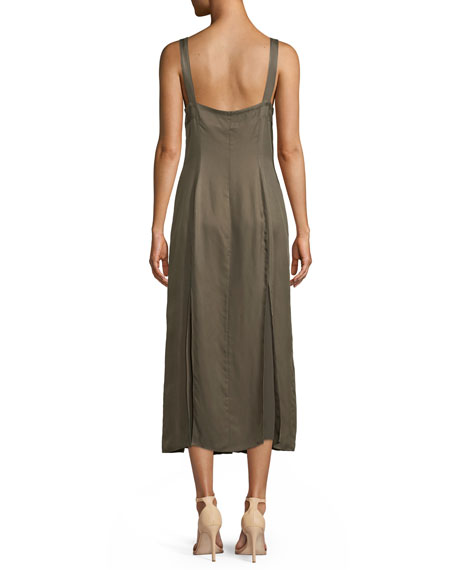 Alexa Sleeveless Button-Front Midi Dress