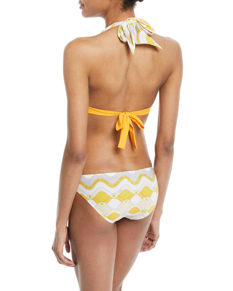 Gaiola Printed Halter Two-Piece Bikini Swim Set