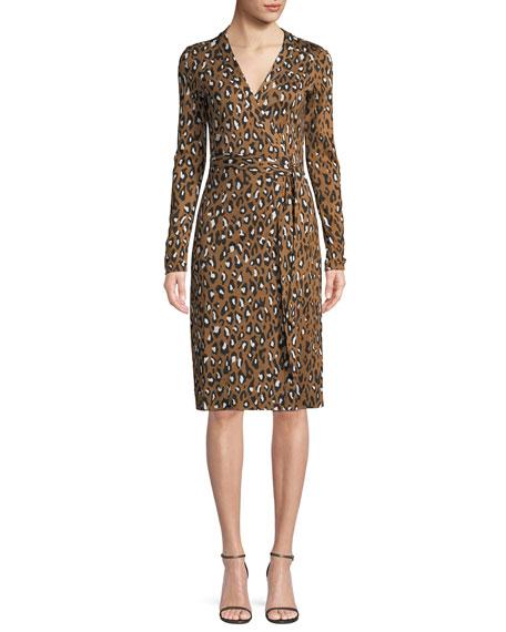 Diane von Furstenberg Cybil Banded Leopard-Print Silk Jersey