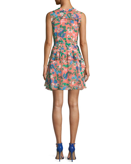 Tilly Floral-Print Ruffle Dress