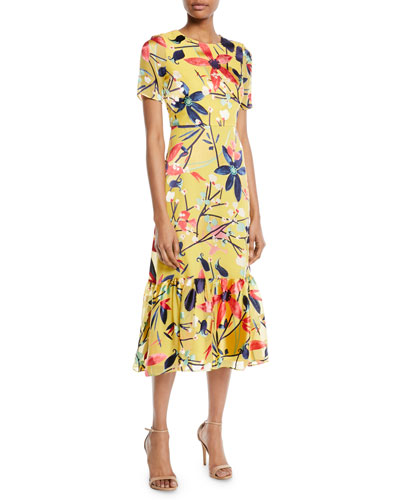 Lorna Silk Painted Floral Dress