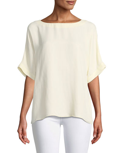 Short-Sleeve Crewneck Easy Top