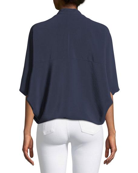 Robi Short-Sleeve Cocoon Blouse