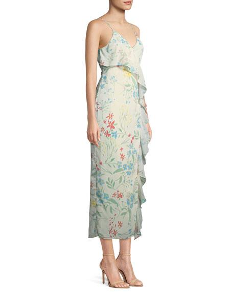Emily Floral-Print Maxi Wrap Dress