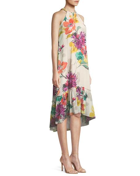 Rosales Splendor in the Garden Sleeveless Silk Dress