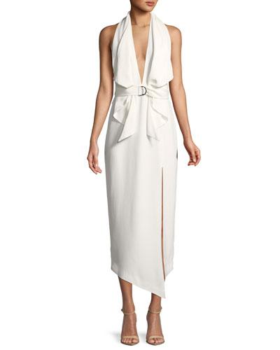 Carrie Belted Halter Dress