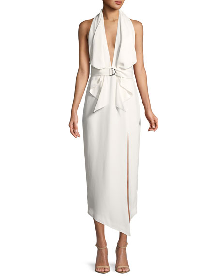 Misha Carrie Belted Halter Dress