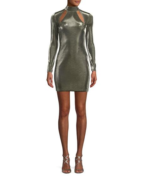 Tamika Cutout Long-Sleeve Minidress