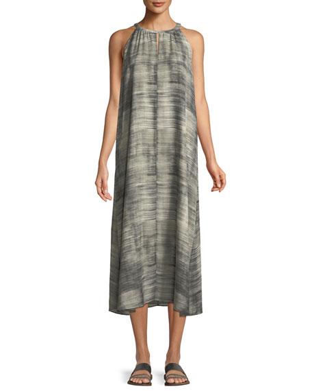 Daze-Print Silk Halter Dress
