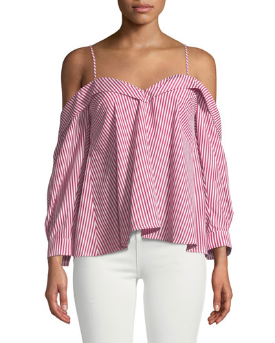 Paloma Striped Off-the-Shoulder Blouse