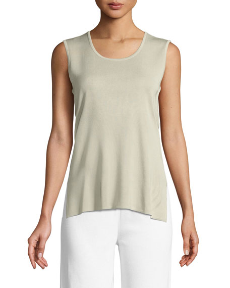Knit Scoop-Neck Tank Top