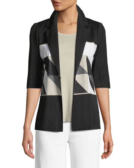 Geometric Half-Sleeve Jacket