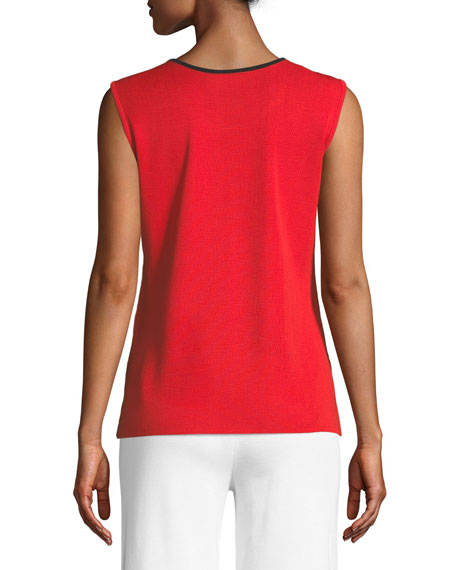 Scoop-Neck Tank w/ Contrast Trim